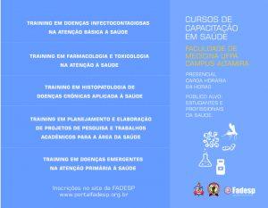 Faculdade de Medicina da UFPA, Campus Altamira, oferta cinco cursos de capacitação em Saúde. Inscrições prorrogadas até 30 de agosto.