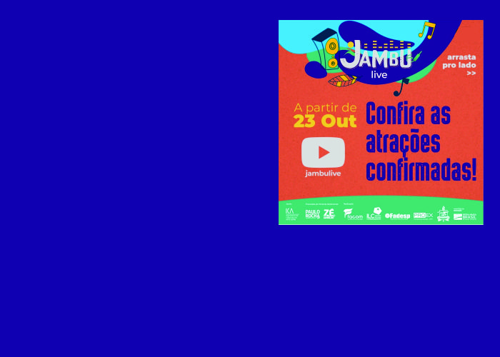 APOIO FADESP: Todas as lives do projeto Jambulive estão disponíveis. São 68 atrações artísticas do Pará que se apresentaram em outubro e novembro.
