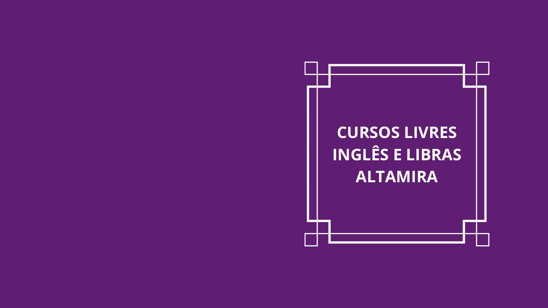 Retificação do Edital de Cursos Livres – Inglês e Libras