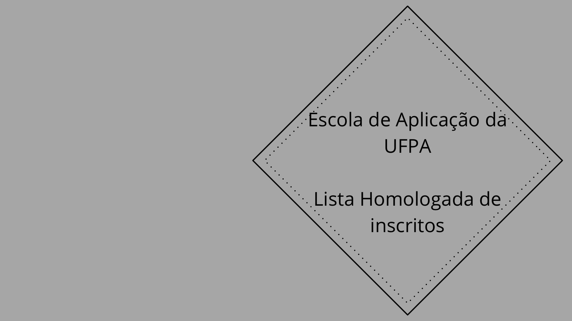 Divulgada a retificação da lista homologada para a Escola de Aplicação da UFPA