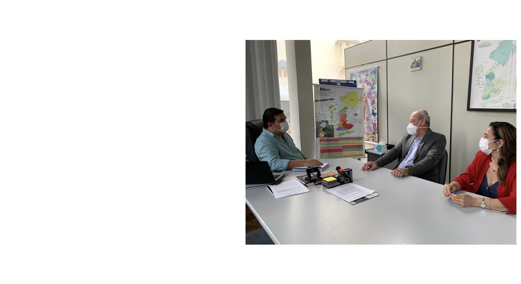 Diretor da Fadesp reúne com presidente da Fundação Cultural de Belém